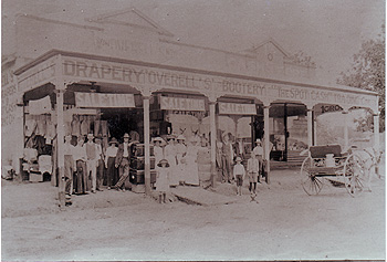 Overell's Drapery Store in the main street of Gayndah