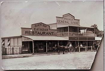 Two of the many shops that lined the main street of Gayndah