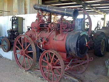 One of the small operating steam engines on display at the Gayndah Museum
